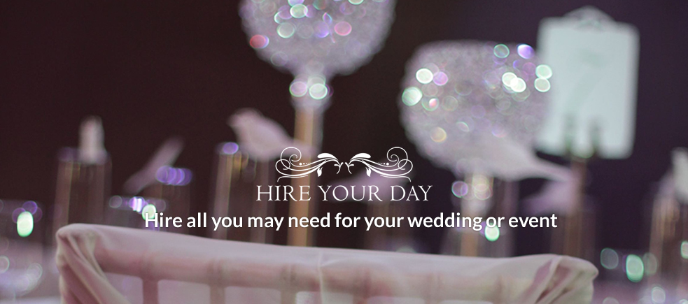 Hire all you may need for your wedding or event